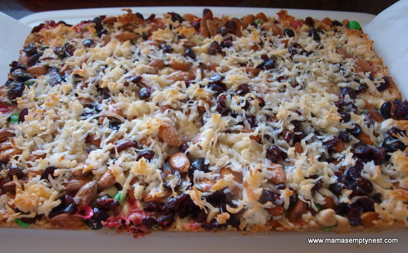 What's Cookin' – Holiday Seven Layer Bars | Mama's Empty Nest