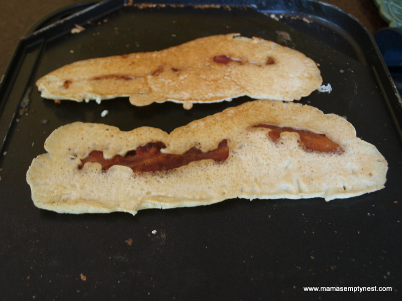 What's Cookin' – Bacon Strip Pancakes | Mama's Empty Nest